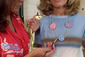 Collar y Colgante de Porcelana Fria o Sculpey