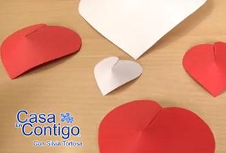 Como Hacer Corazones de Papel en 3D para San Valentin o Decora