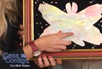 Como hacer una mariposa con el perfil de las manos de la familia