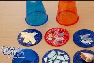 Decoracion con Vasos de Plastico, Suncatchers, Posavasos