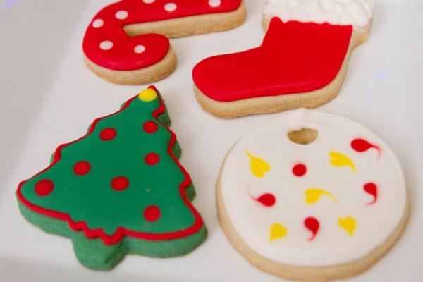 Mini galletas navideñas  5 Snacks creativos para la celebración de Navidad galletas icing