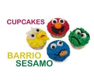cupcakes barrio sesamo