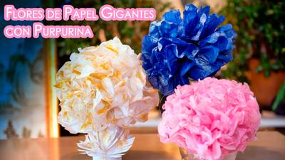 flores-de-papel-con-glitter