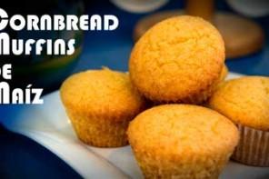 Cornbread Muffins de Maiz, Auténticos, Receta Americana