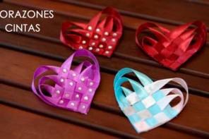 Corazón de Cintas para Cabello, Broche, Colgante o Regalo