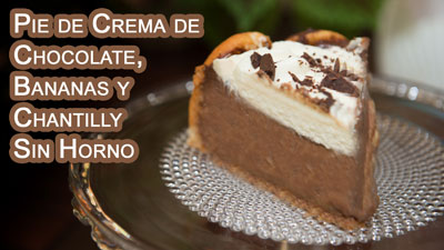 Pie-de-Crema-de-Chocolate,-Bananas-y-Chantilly----Sin-Horno