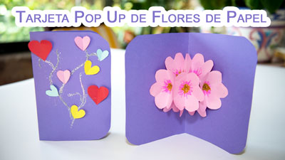 Tarjeta-Pop-Up-de-Flores-3D-de-Papel