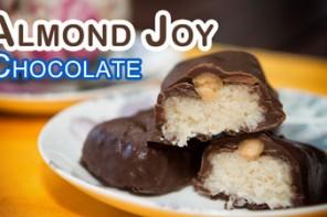 Como Hacer Almond Joy o Chocolatinas de Coco con Almendras