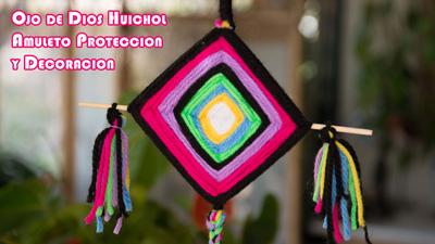 Ojo-de-Dios-Huichol,-Amuleto-Proteccion-y-Decoracion