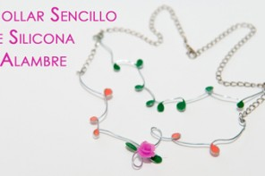Collar Sencillo de Silicona y Alambre Facil y Elegante