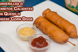 Banderillas Perritos Calientes con Queso o Cheese Corn Dogs