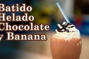Batido de Helado de Chocolate y Banana