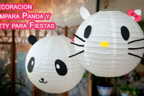 Decoracion Colgantes y Lampara Panda o Kitty para Fiestas