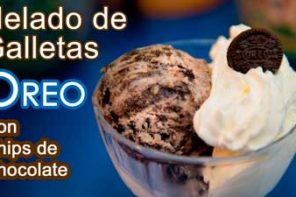 Receta Helado de Galletas Oreo y Chips de Chocolate